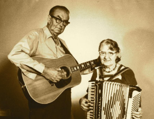 Estil C. Ball and his wife, Orna, who frequently sang with him.