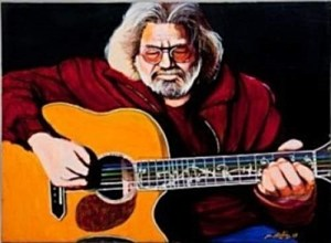 Balin's portrait of Jerry Garcia. He painted it from life.